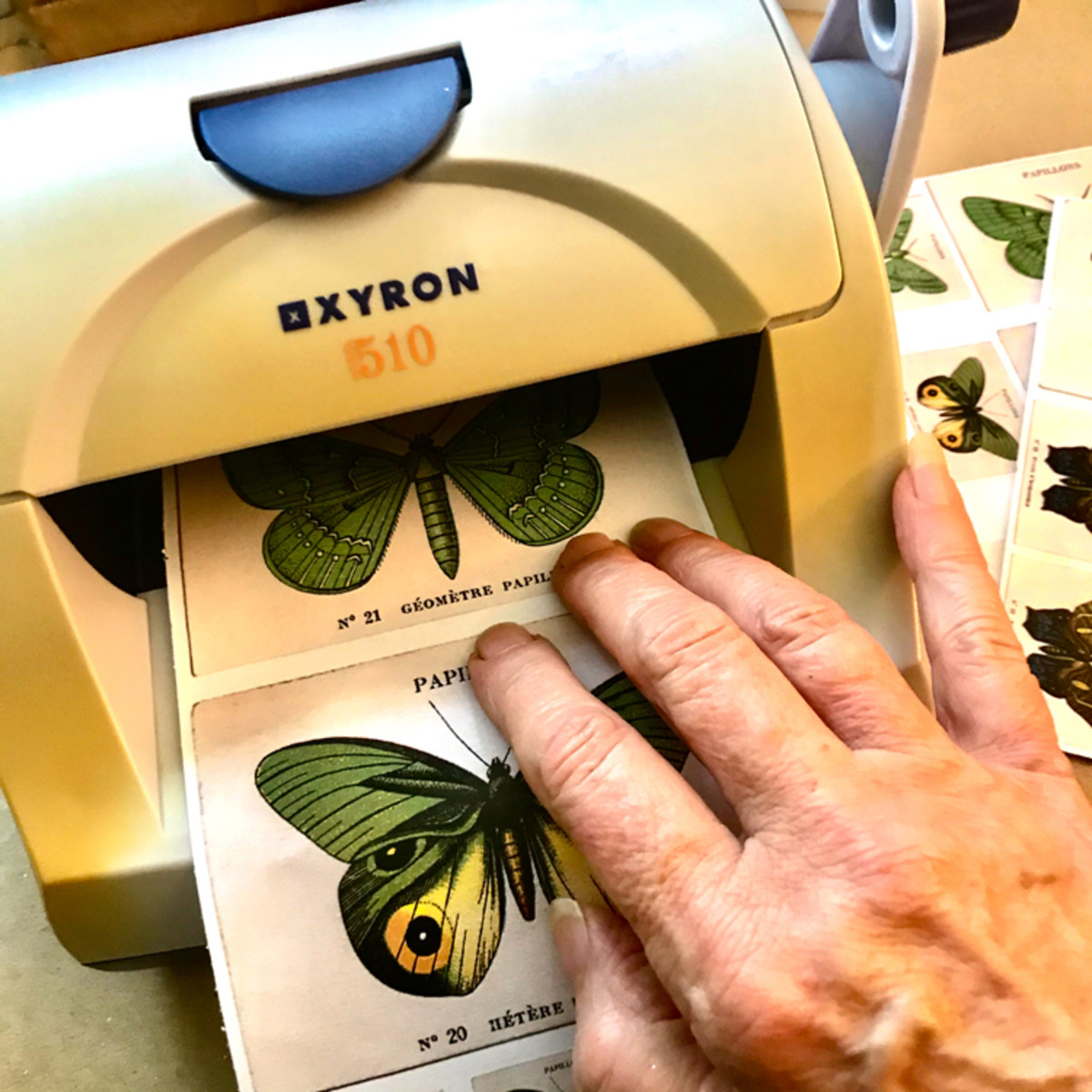 You can make all kinds of custom stickers with the Xyron machines