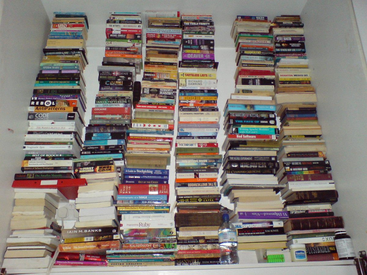 Do books on shelves seem humongous? If so, you may be suffering from Reader's Block.