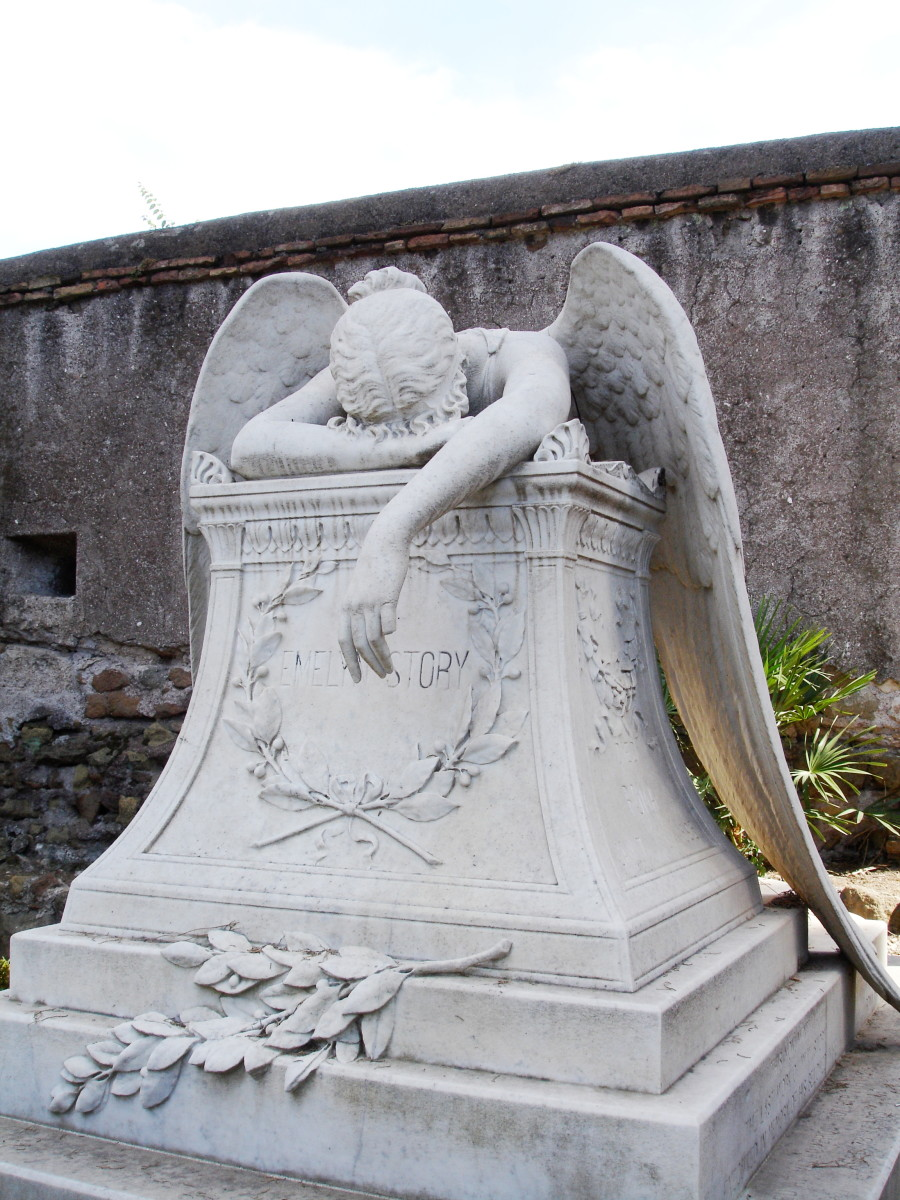 Angel of grief, a 1894 sculpture by William Wetmore Story .