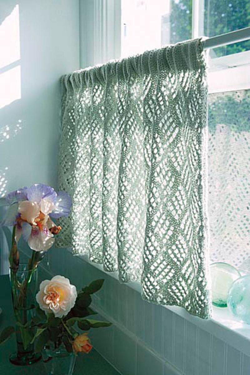 Dappled Lace Café Curtain Pattern