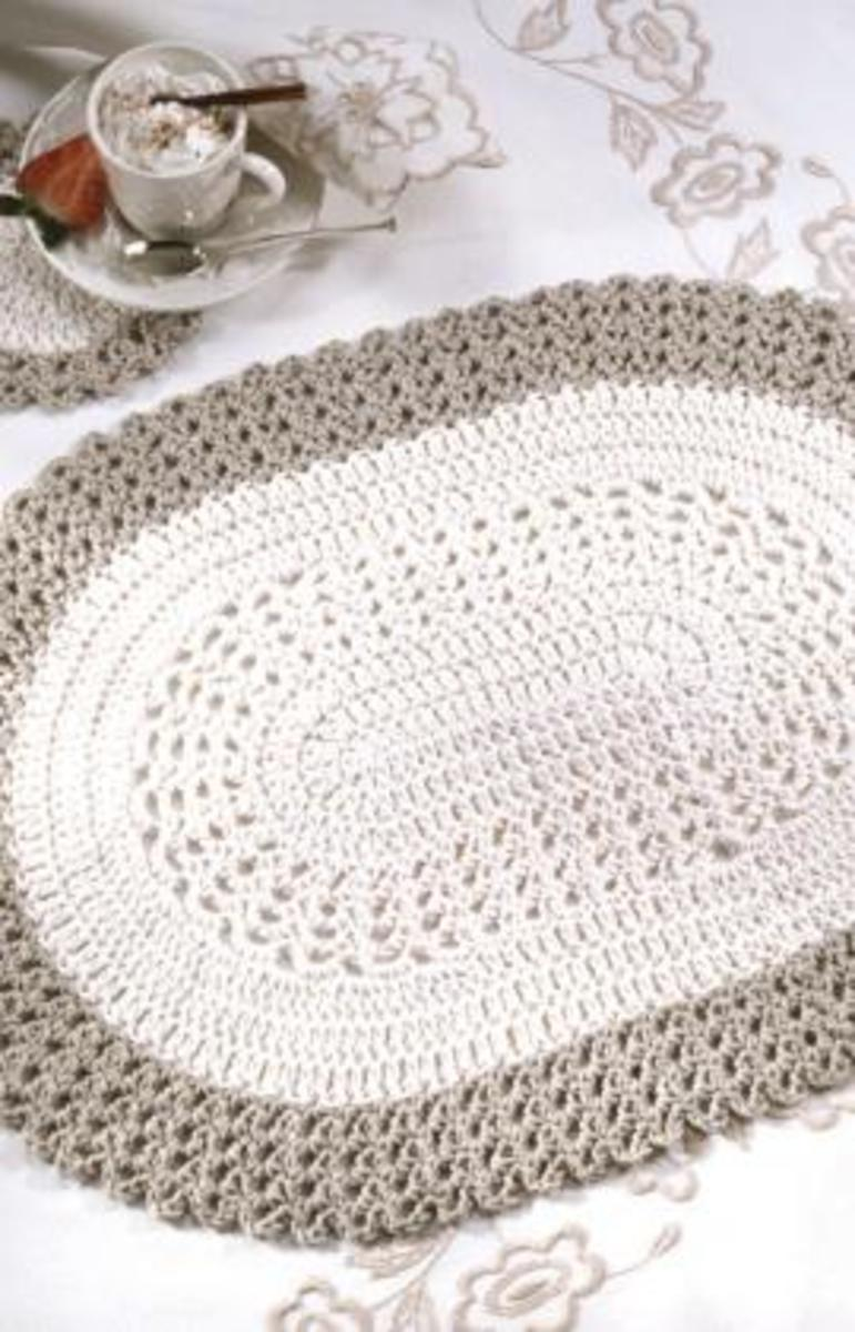 Oval Place mat and Coaster