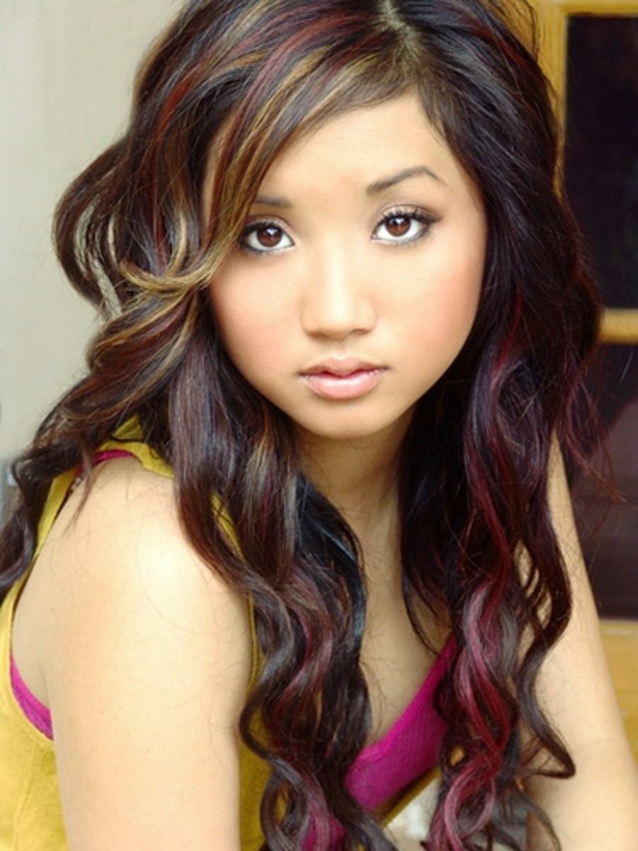 Brenda Song in Highlights for Asian Hair