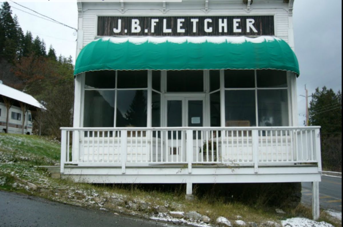 J.B. Fletcher Store in Ainsworth, B.C. - the first and largest General Store and mining supply establishment on Kootenay Lake BC, built in the 1890's.