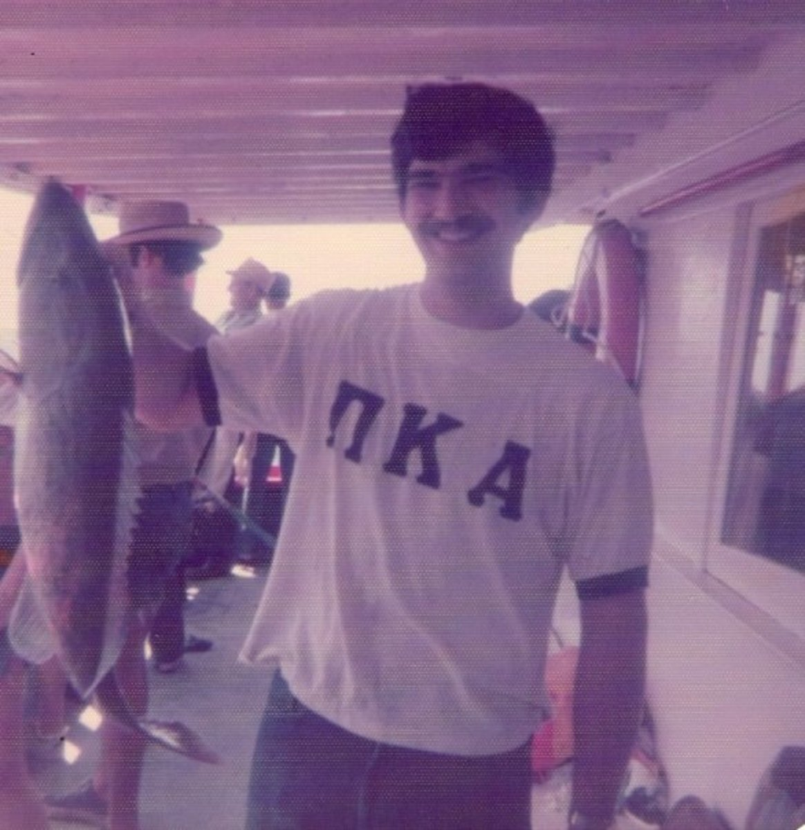 David Ligler caught this 23 lb grouper on a fishing trip in 1975. He won a $300 prize.