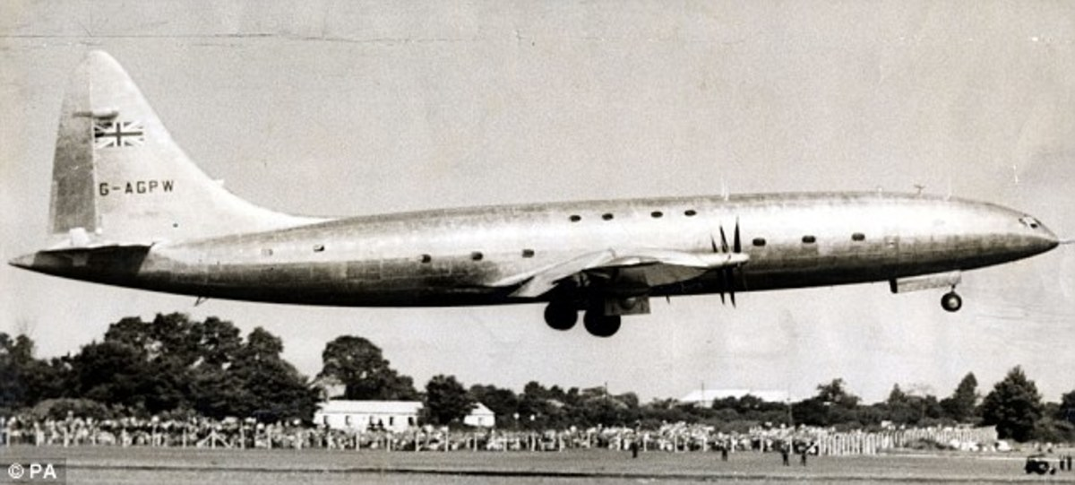 Bristol Brabazon during liftoff