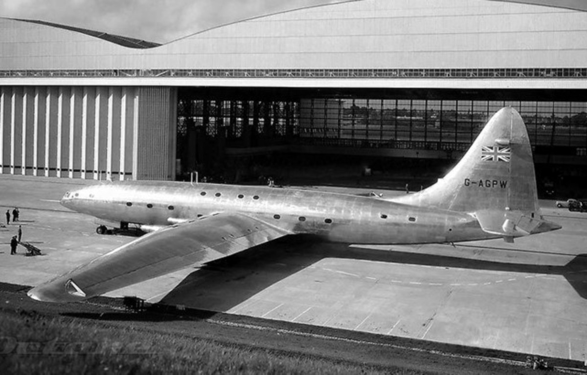 The Bristol Brabazon, the Largest Passenger Aircraft Ever Built Before the 1950s