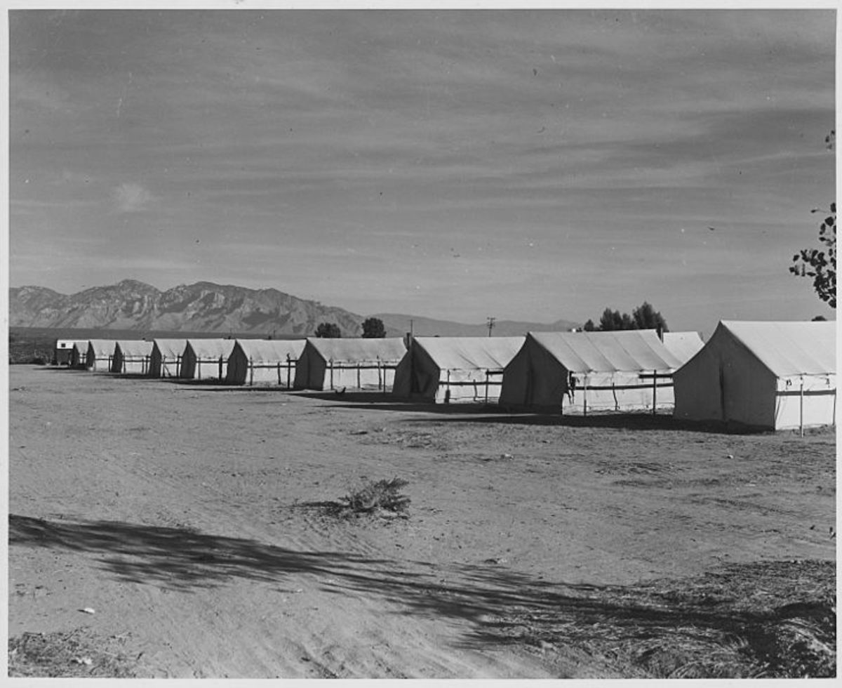 African Americans lived in cheaply framed  tents, compared to the Yaqui huts.