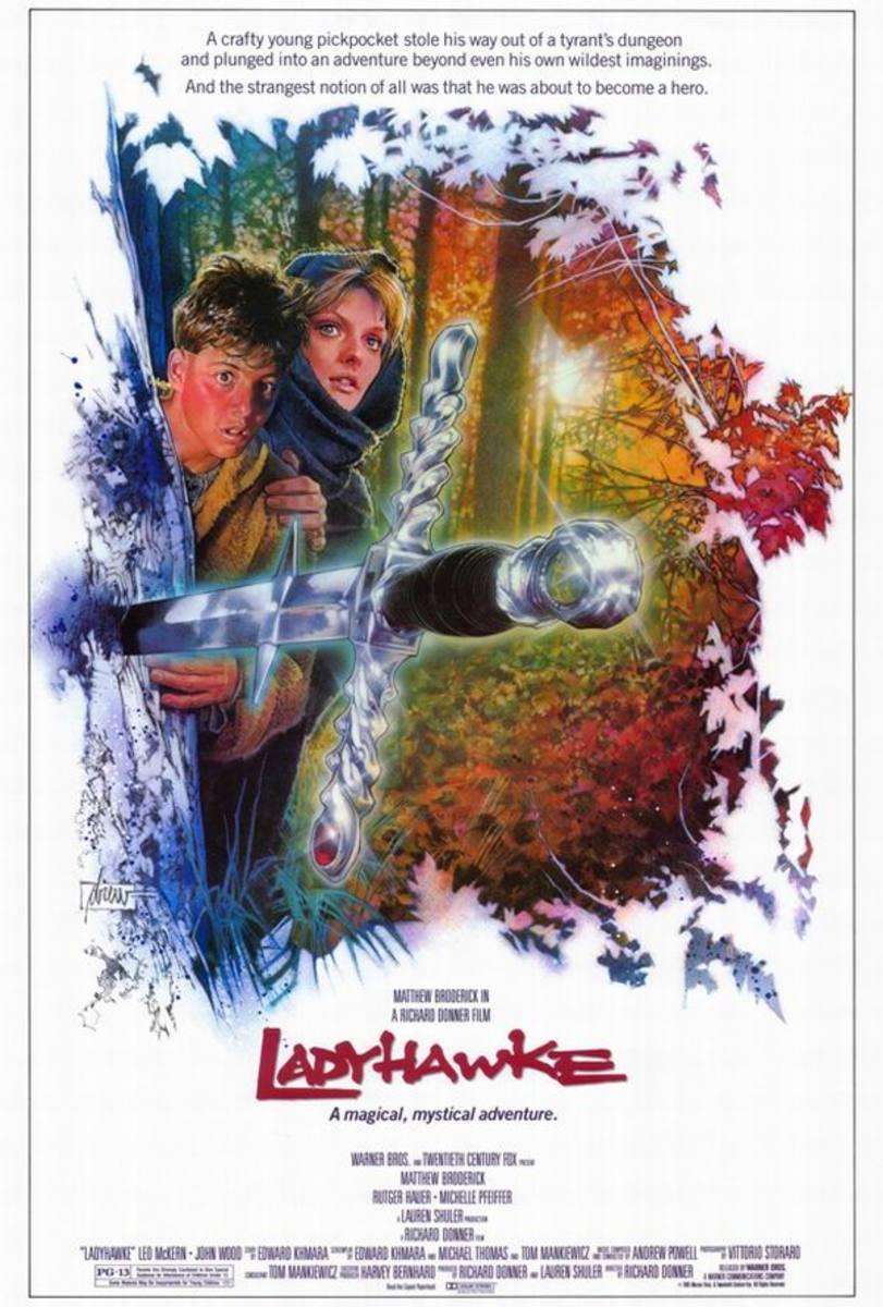 Ladyhawke (1985) poster art by Drew Struzan