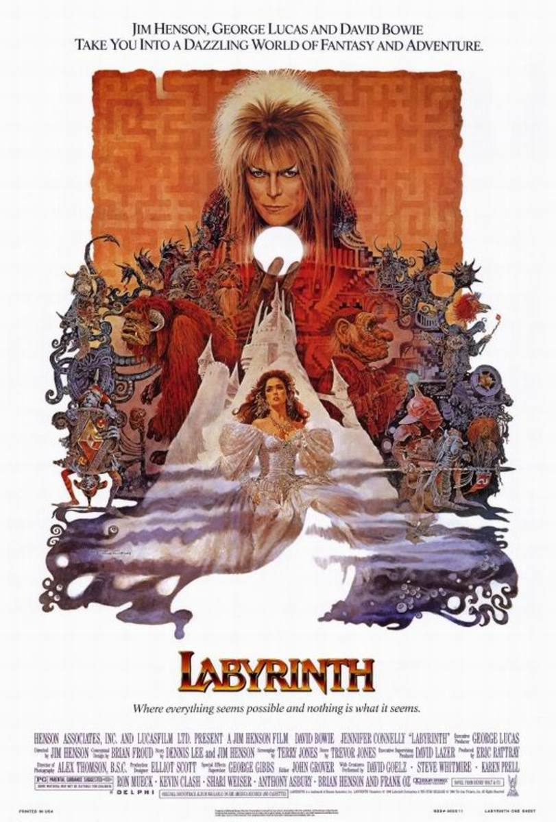 Labyrinth (1986) poster art by Ted Coconis