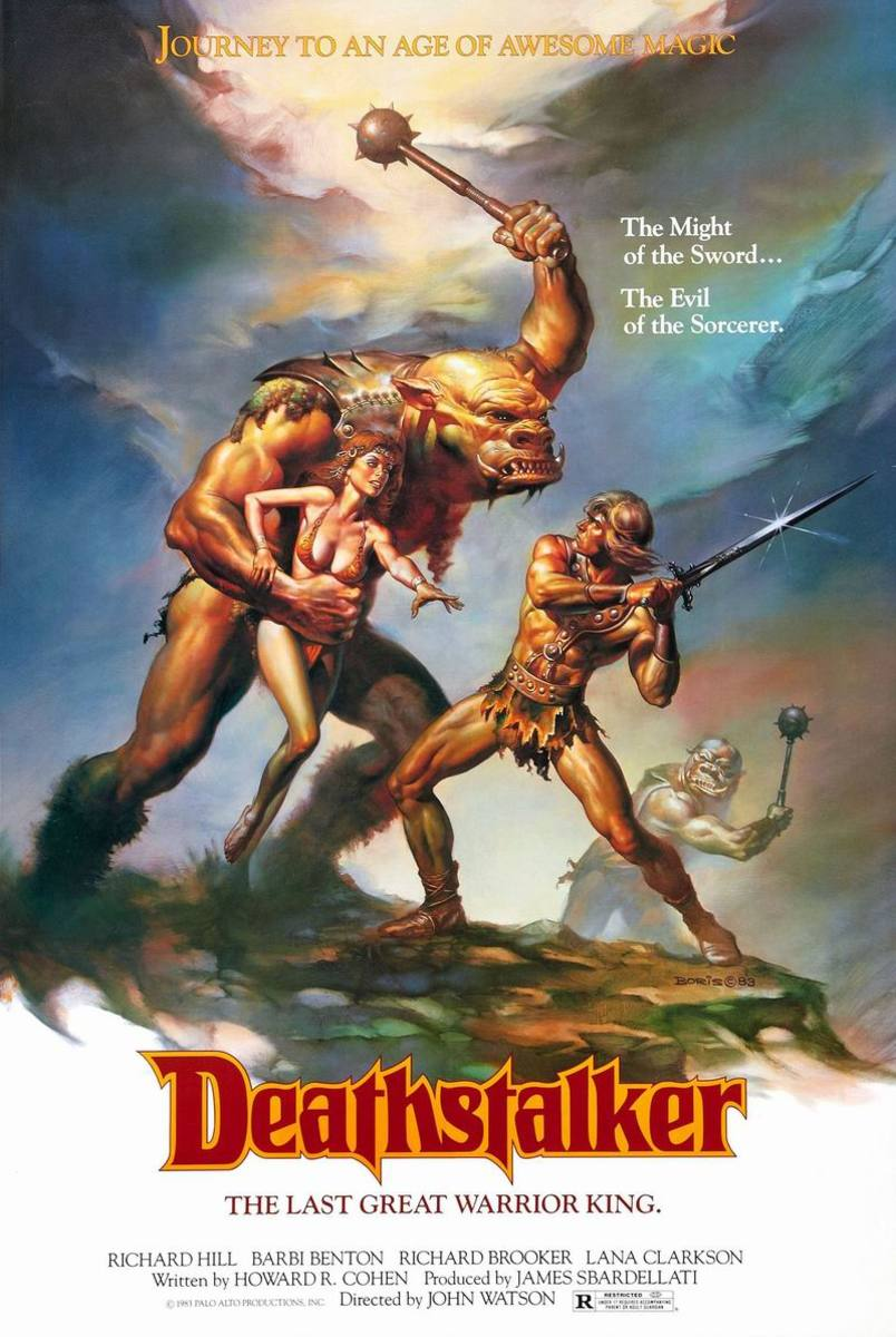 Deathstalker (1983) poster art by Boris Vallejo