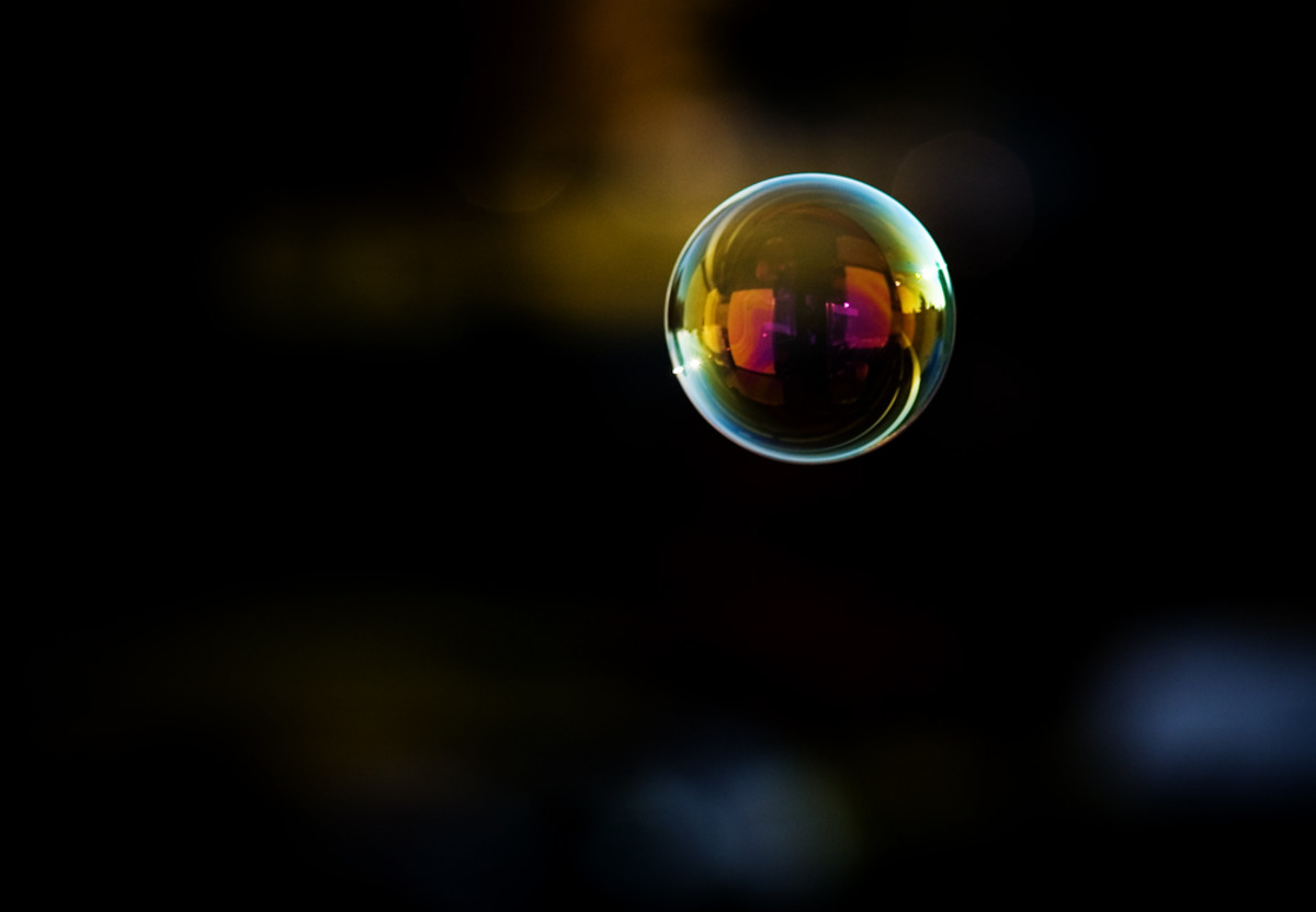 Bubbles are short-lived, sheer lightness of being.