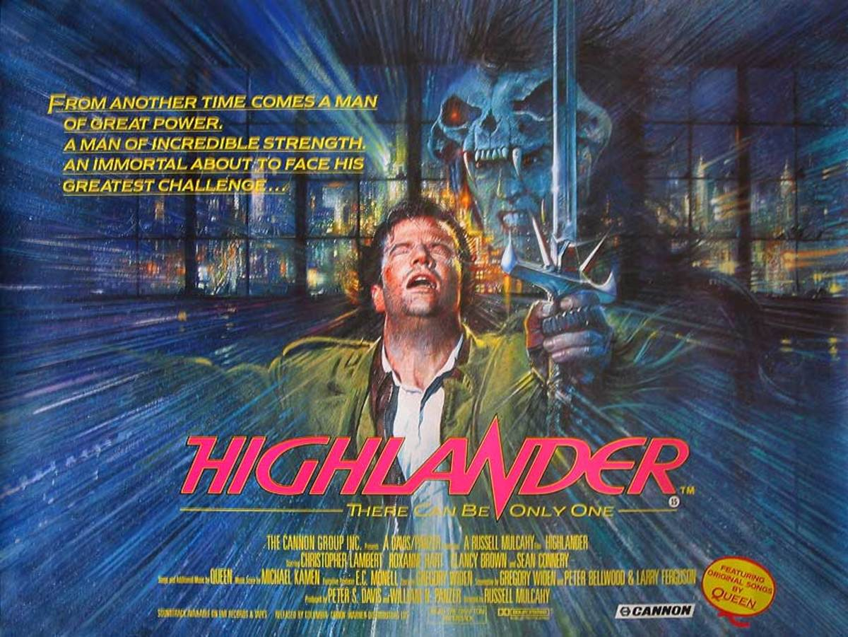 Highlander (1986) UK poster