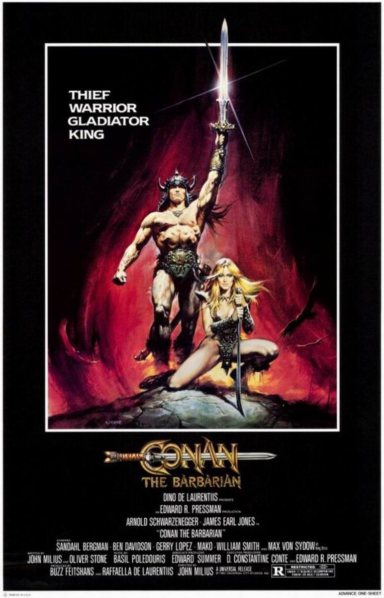 Conan the Barbarian (1982) poster art by Renato Casaro