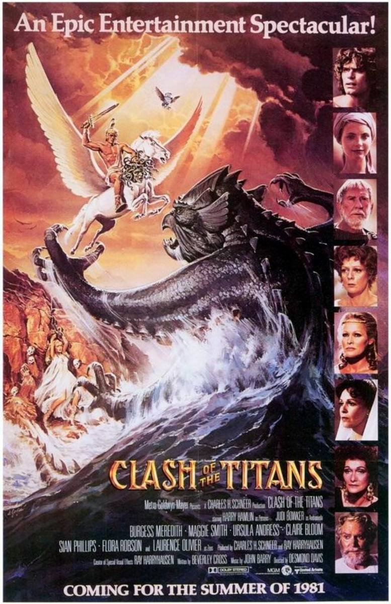 Clash of the Titans (1981) poster art by Daniel Gouzee