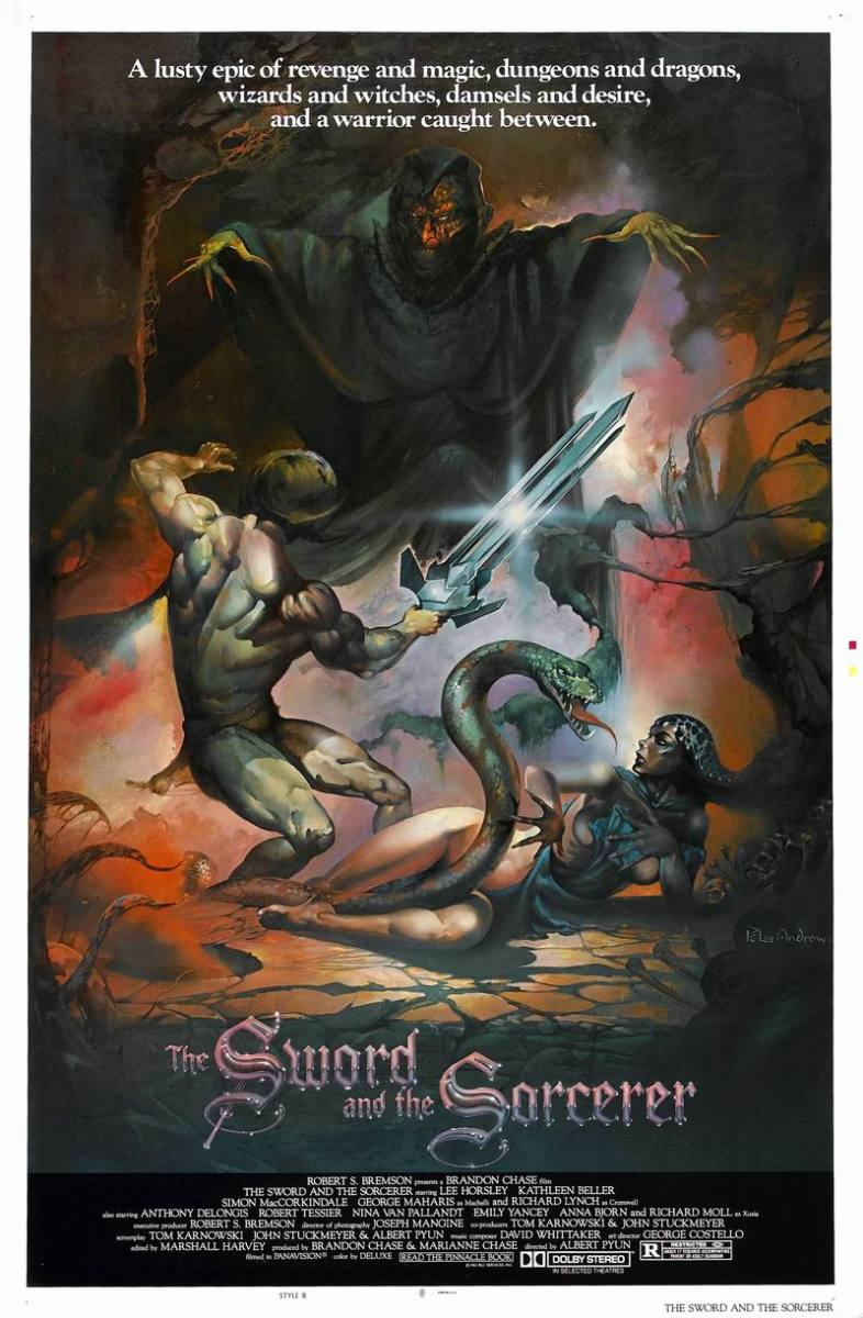 The Sword and the Sorcerer (1982) poster art by Peter Andrew Jones