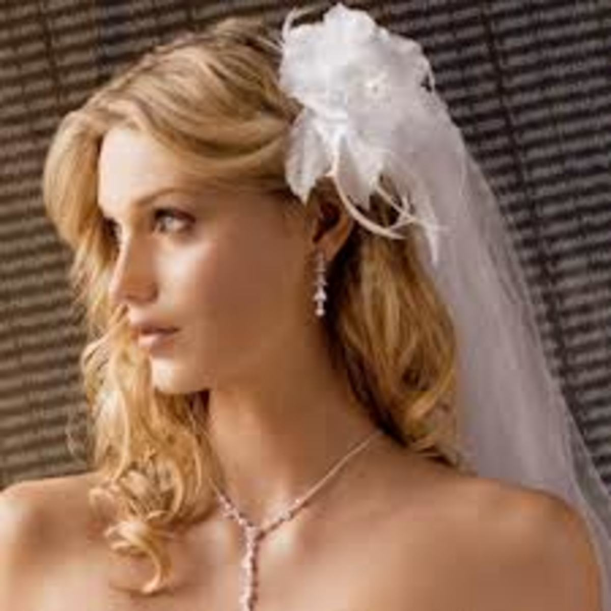 Wearing your hair down needs to be kept simle with a veil or tiara not both