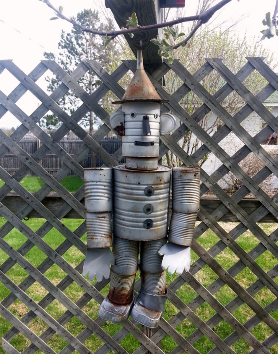 How To Make A Recycled Tin Man