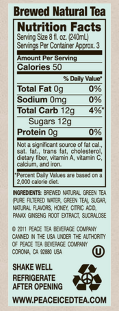 This wouldn't be complete without the nutritional facts.