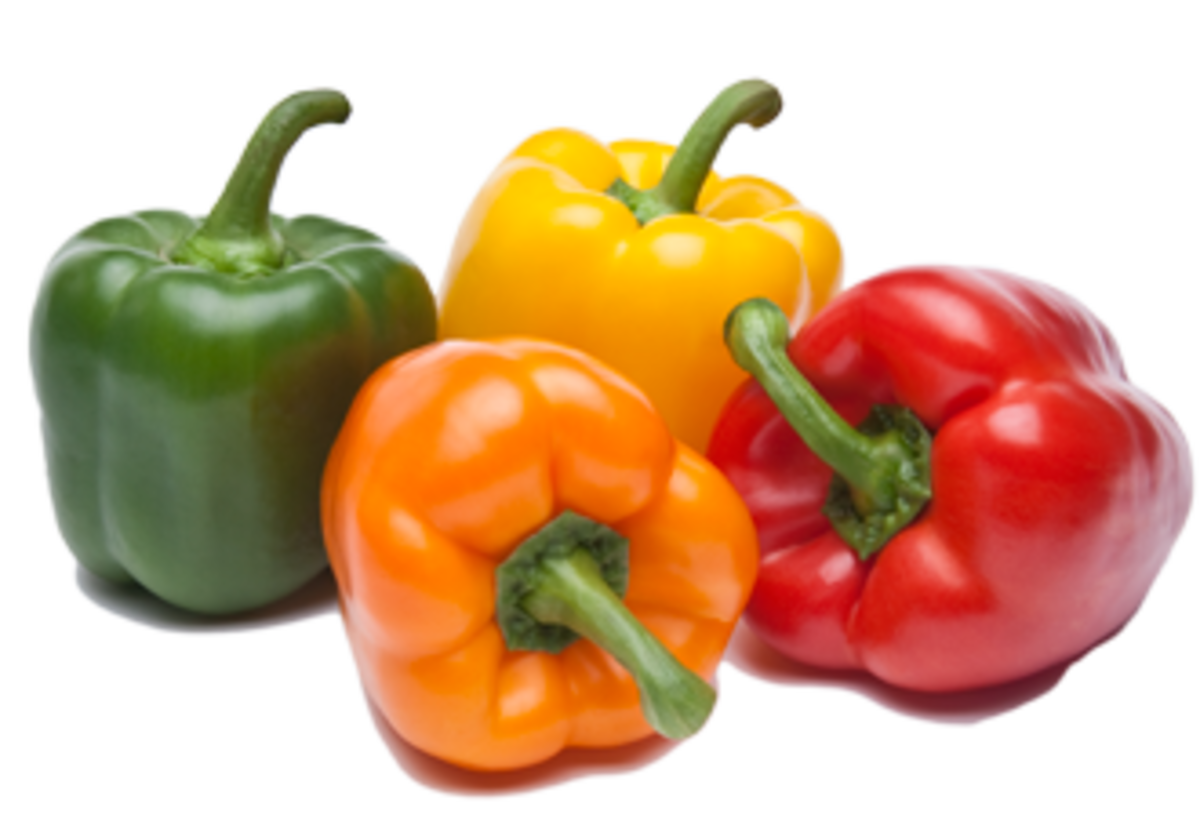 One medium bell pepper contains 40 mg of sodium.