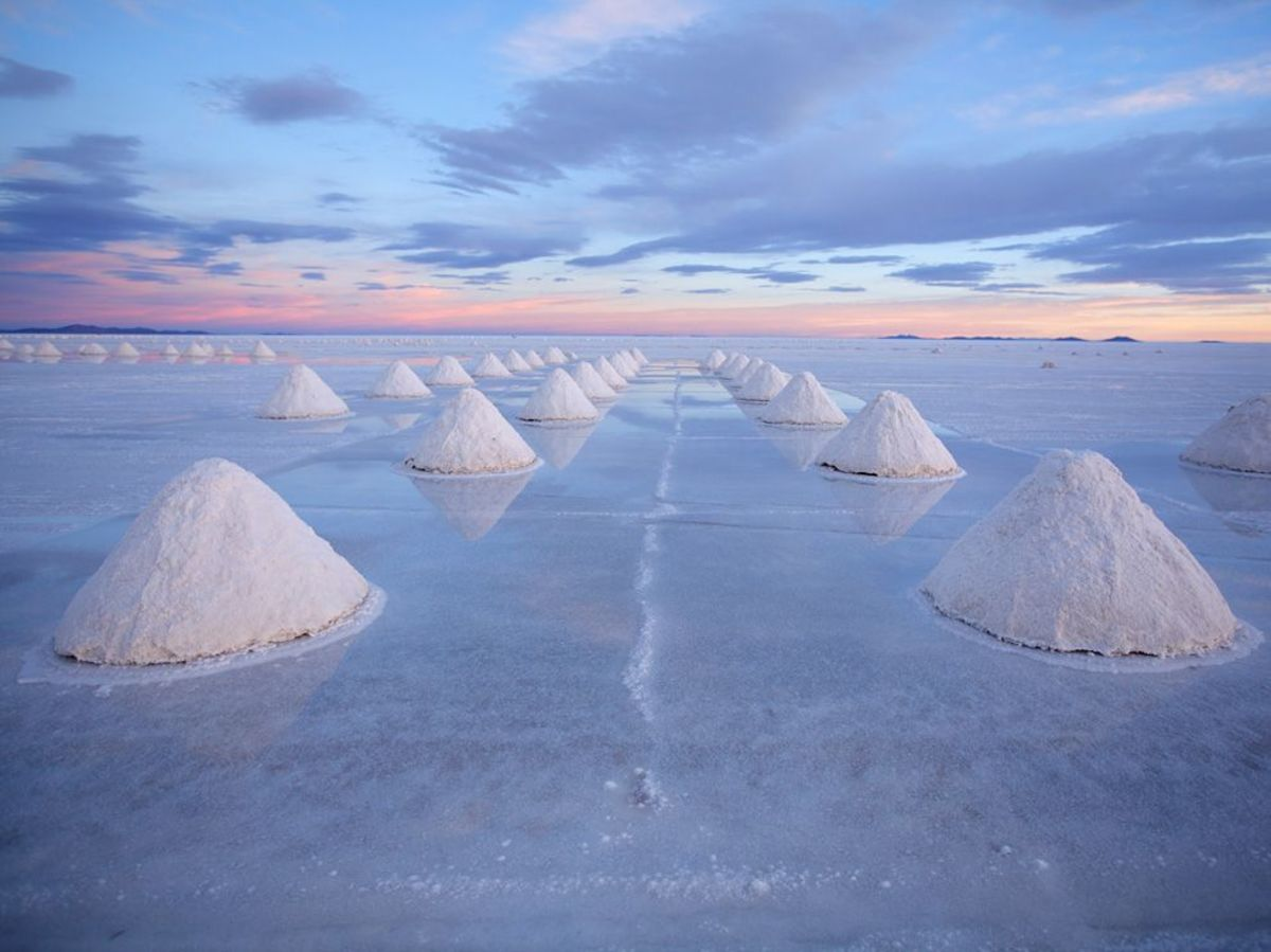 Salt from the world's largest salt plain in Salar de Uyuni.