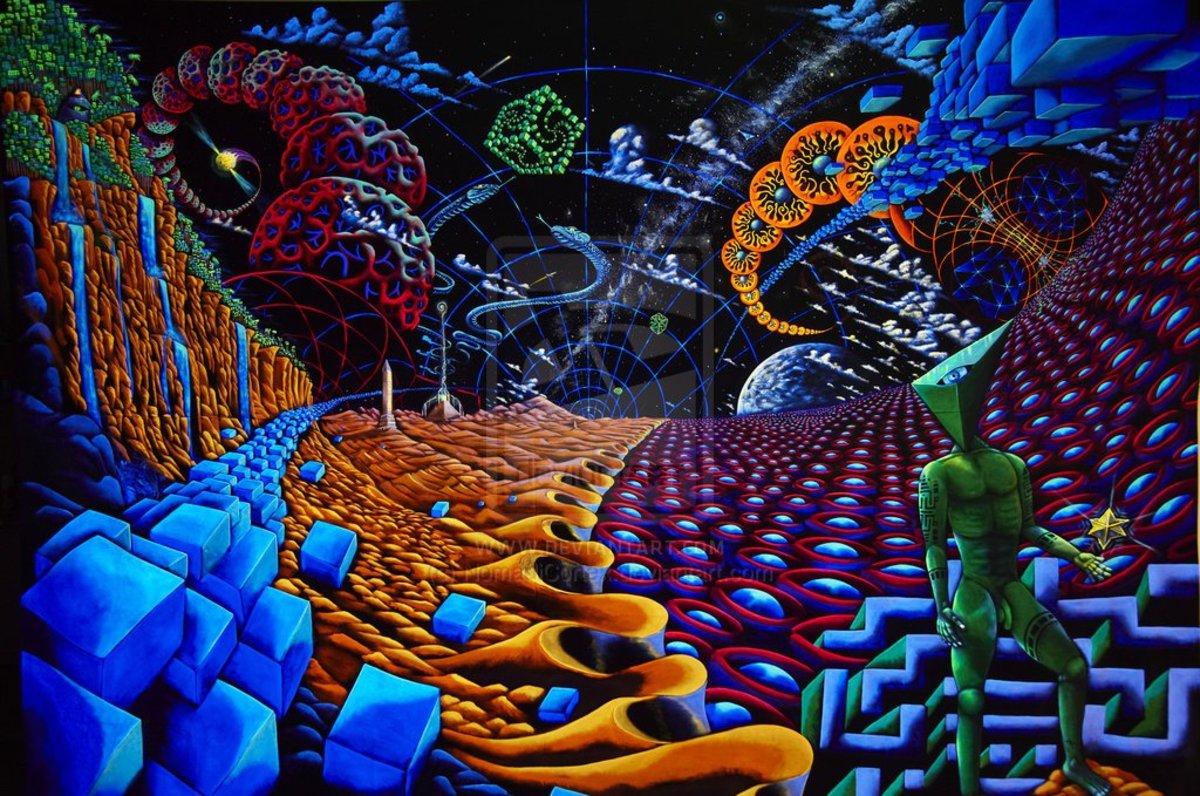 Psychedelic Spirit Paintings Alex Grey Art Gallery: DMT (Dimethyltryptamine)