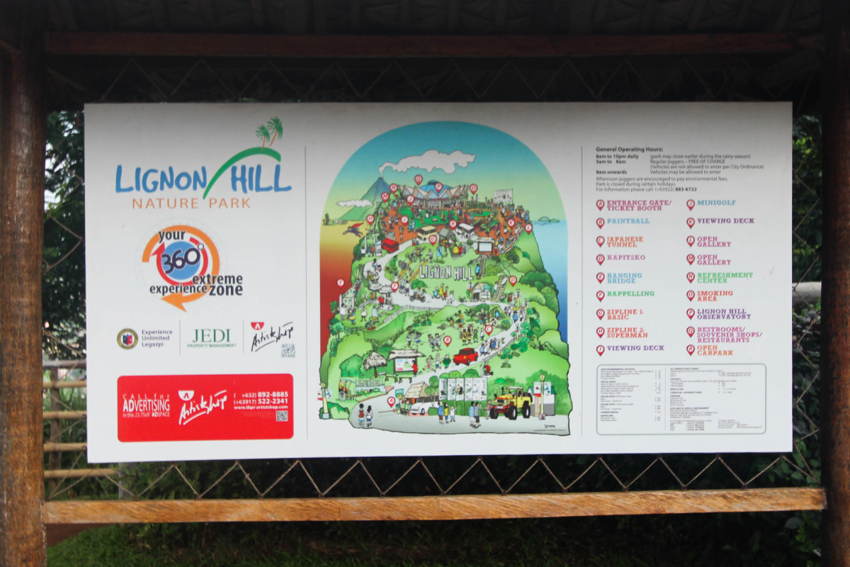 Map of Lignon Hill and the cool spots to enjoy those activities!