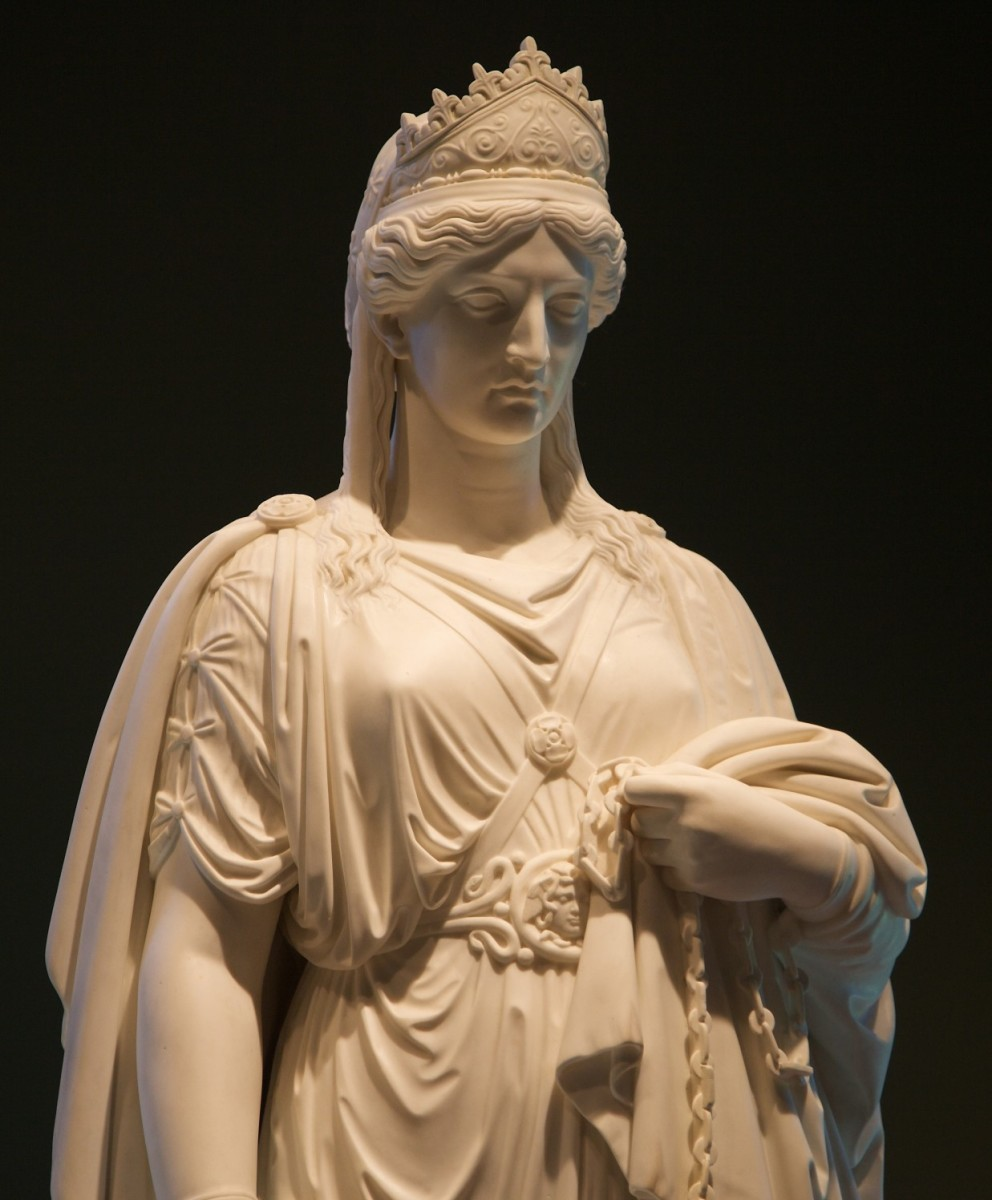 Famous statue of Queen Zenobia in Chains by Harriet Hosner in 1859