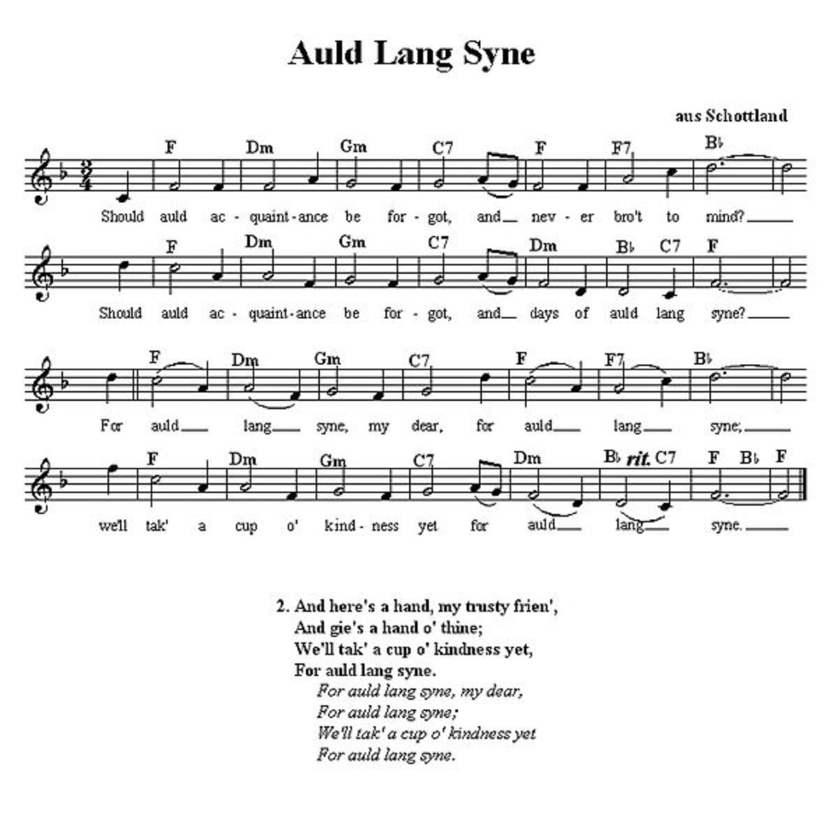 End a Robert Burns supper with Auld Lang Syne.