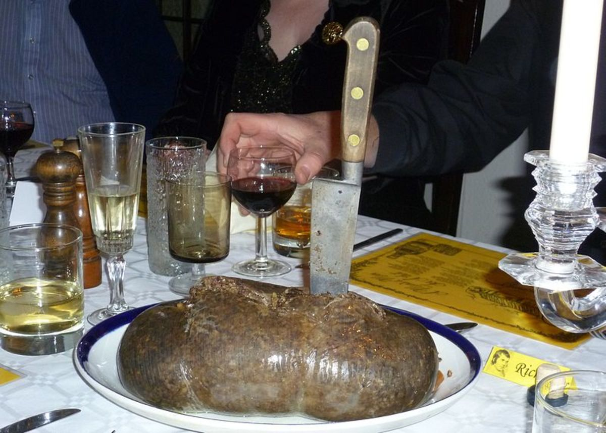 Haggis is traditionally served at a Burns Supper.