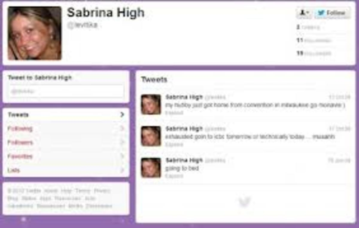 Sabrina's page before Breaking Amish