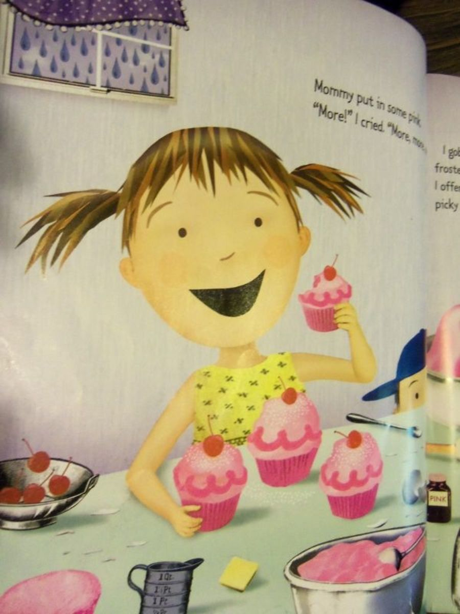 Pinkalicious loves, loves, loves pink cupcakes!  Oh no, what's happening?
