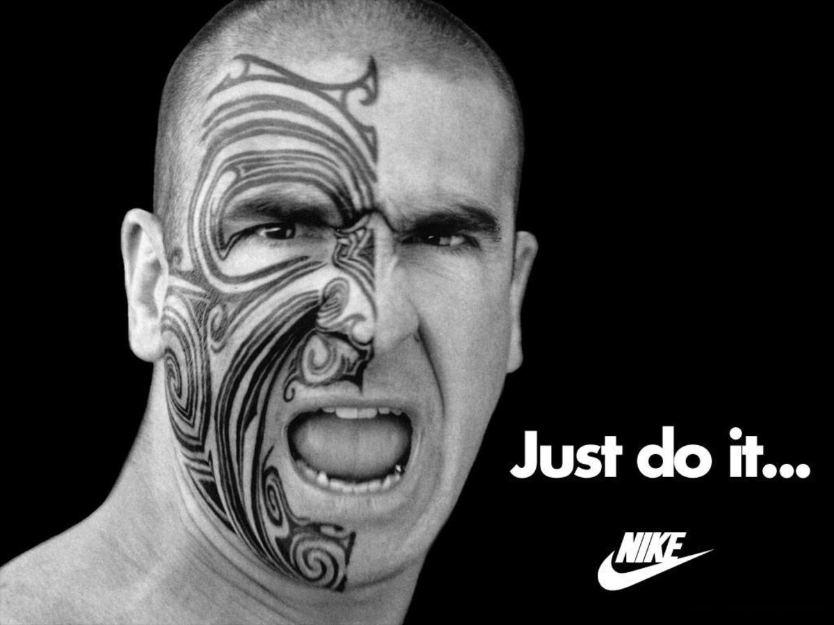 Nike Just Do It Poster with Face of Courage