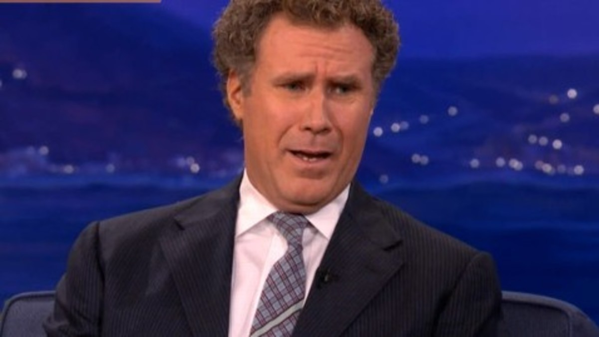 Will Ferrell on Conen making fun of Twilight Fans by calling Kristen Stewart a 'Trampire'. This photo is for educational purposes - no copyright infringement is intended.