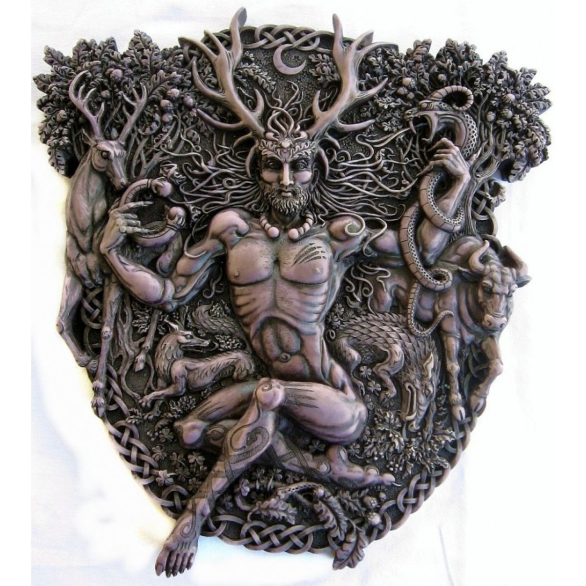 An image of the antlered god Cernunnos - Continental version of Herne the Hunter
