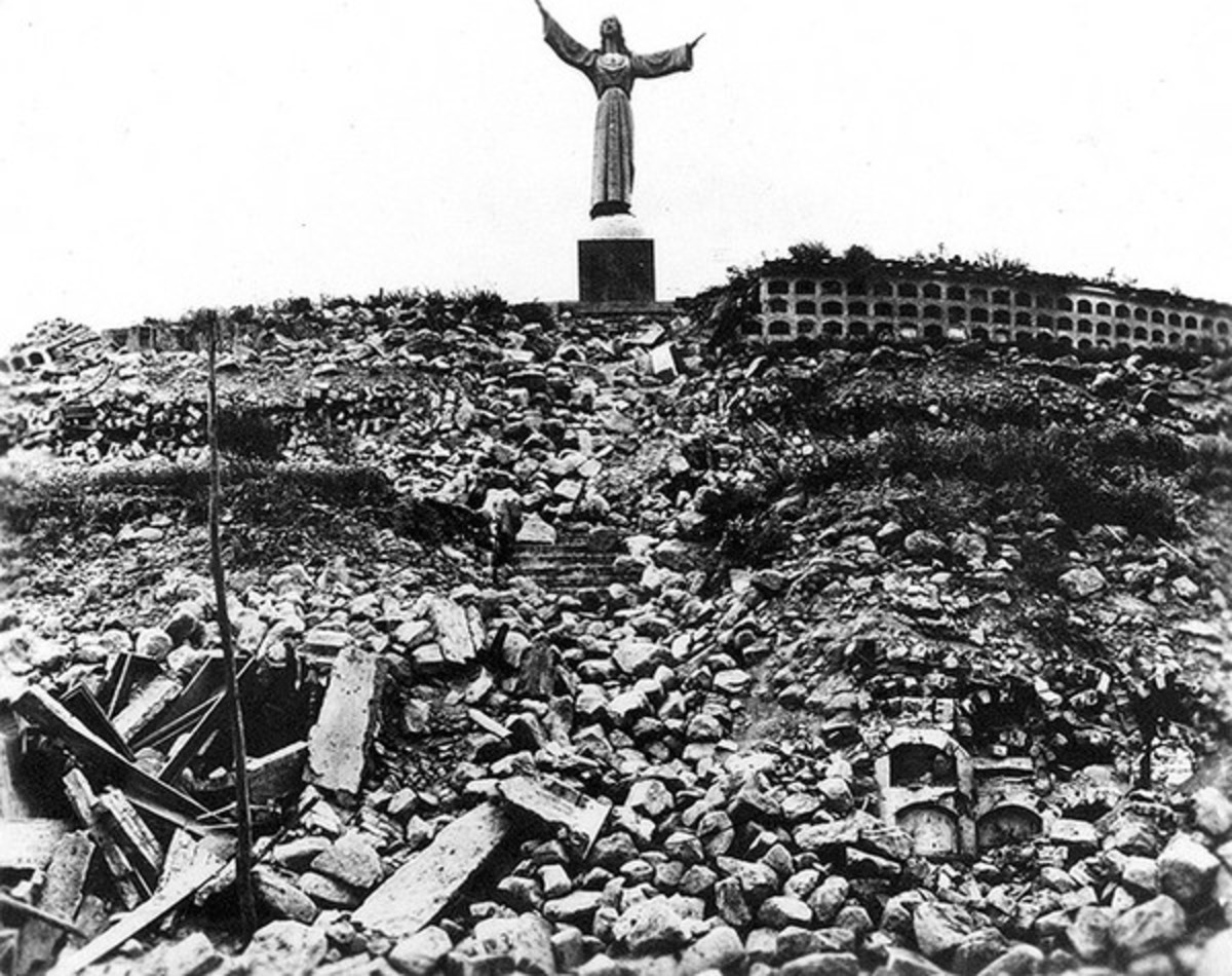 A scene following the Peruvian earthquake of May 31, 1970.