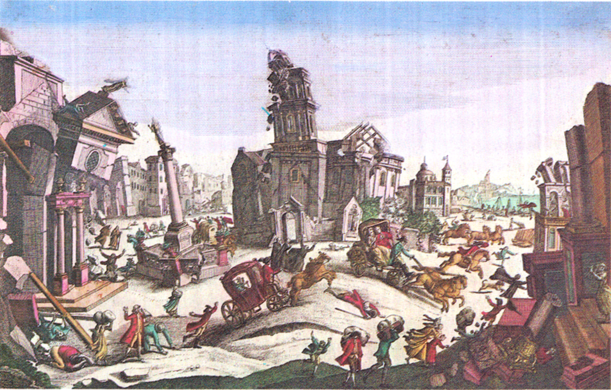 Reggio, Calabria, Italy: Effects of the 5 February 1783 earthquake, the first in a series of shocks spread out over two months.