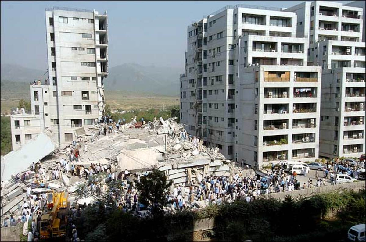 One of 85 schools destroyed (fortunately school was not in session at the time) in the Algeria earthquake of 10 October 1980.