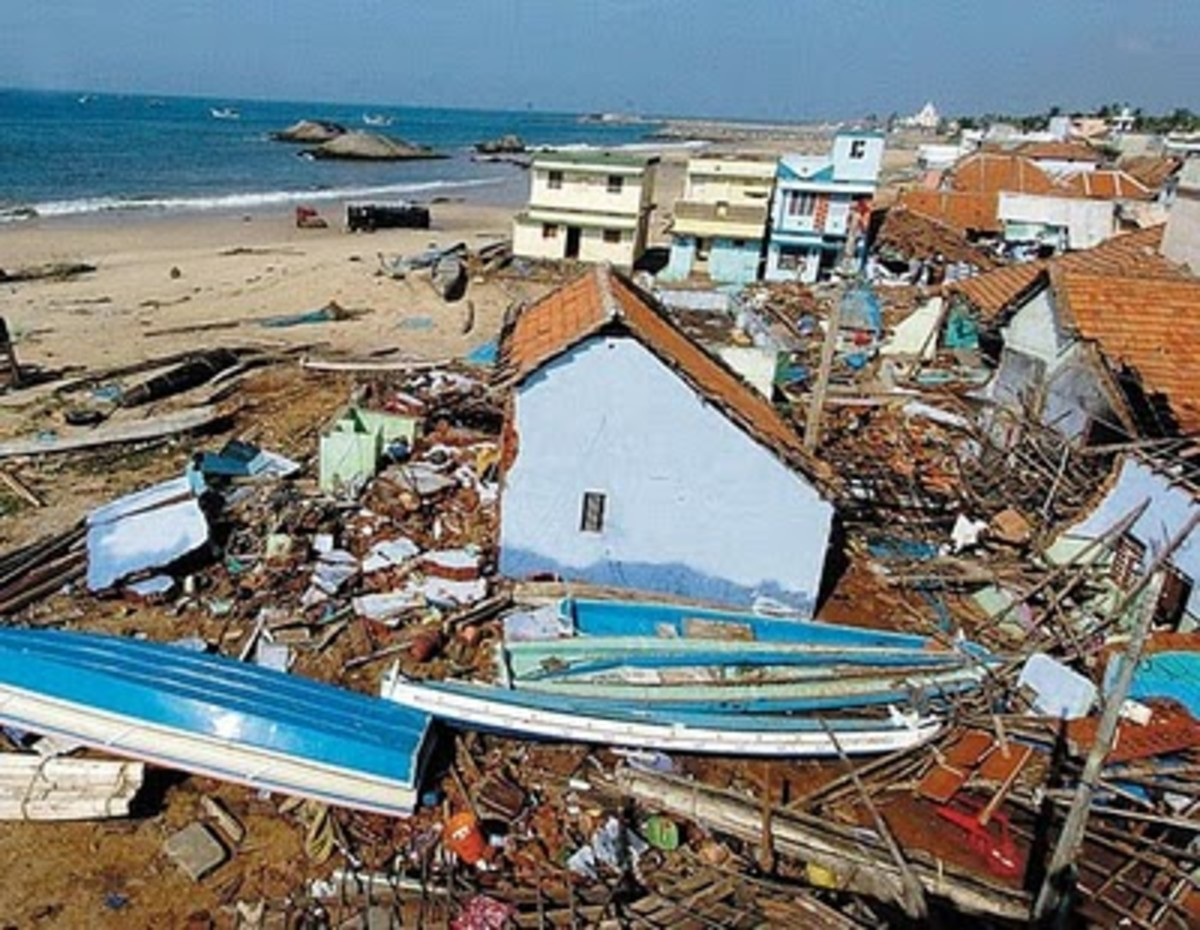Just one view along the Indian Ocean coast following the megathrust earthquake of December 26, 2004.