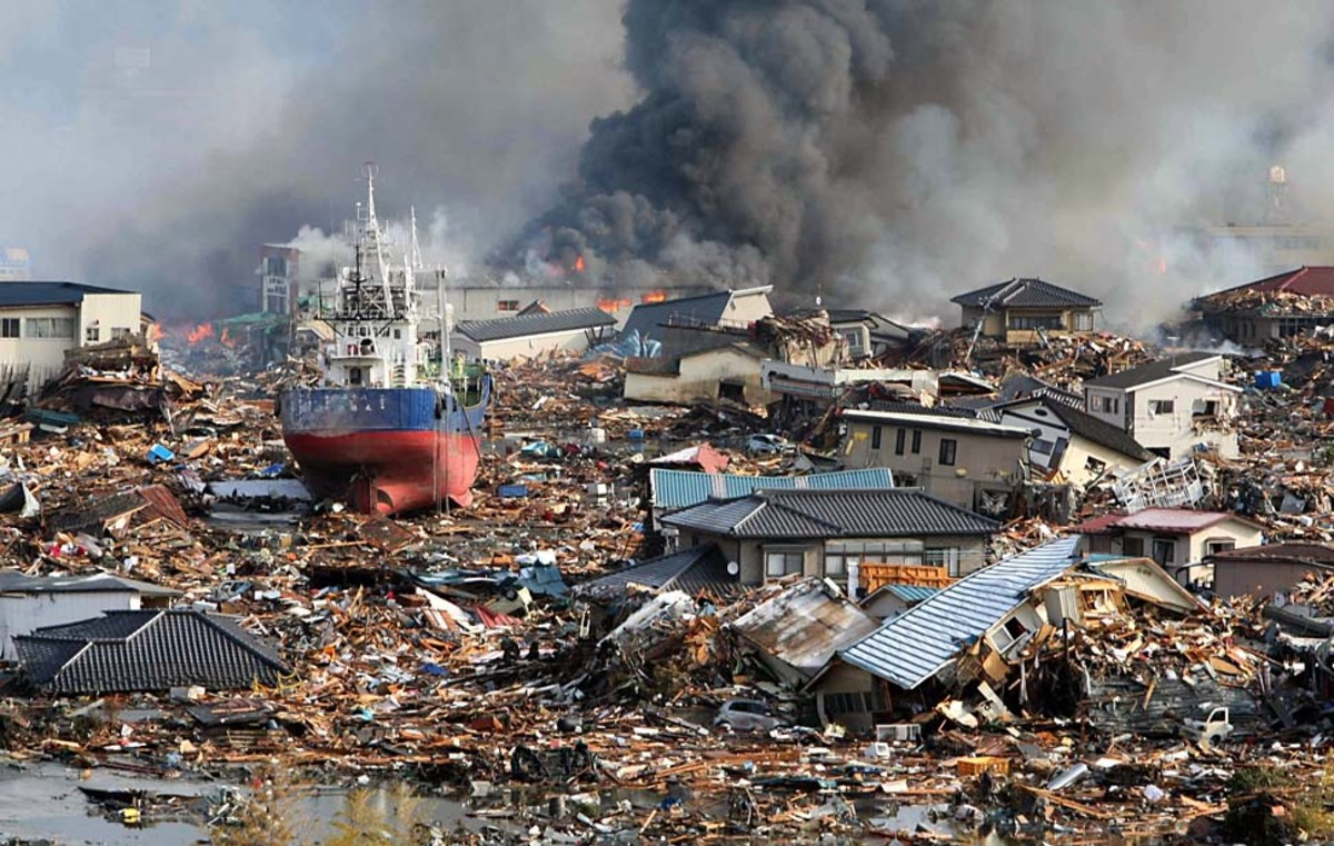 It was complete devastation for as much as six miles inland on the coast closest to the epicenter of the 2011 mega-quake in Japan.