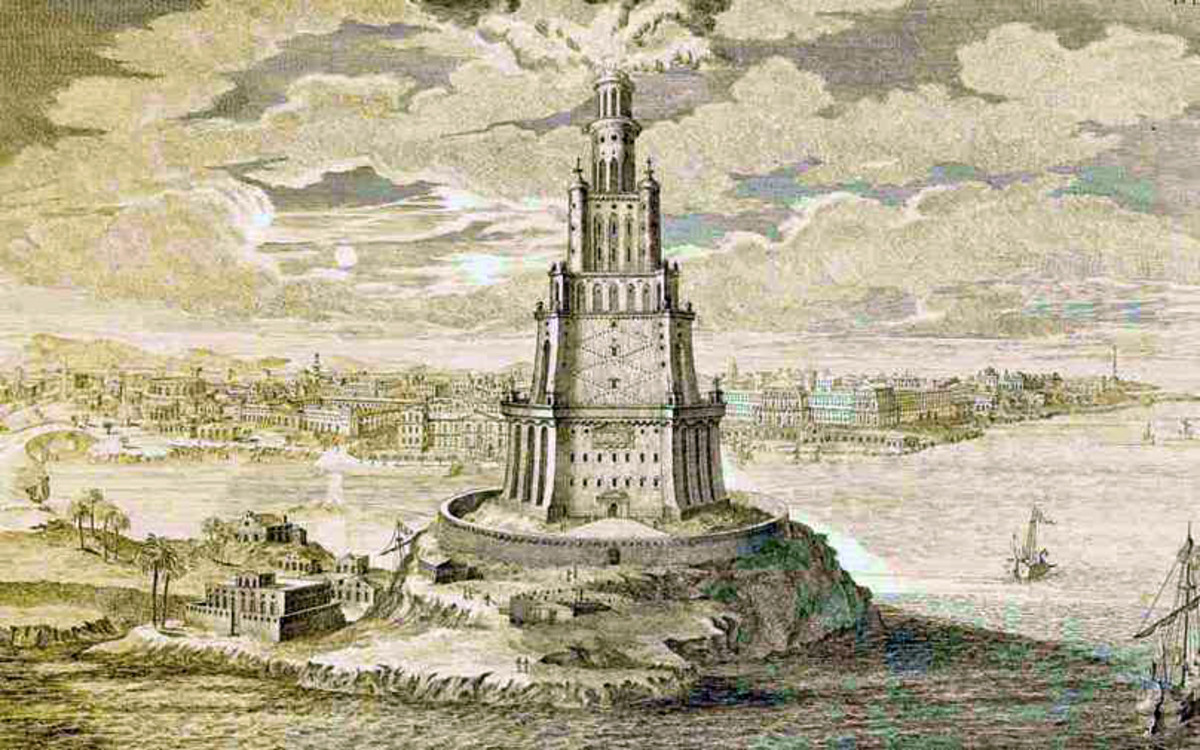 A tsunami, caused by the August 1303 Crete earthquake, destroyed all but the lowest tier of the Pharos or the famed lighthouse of Alexandria (one of the ancient wonders of the world).