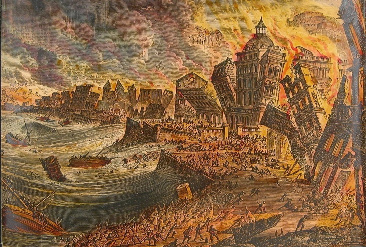The Lisbon earthquake of 1755 was the equivalent of a perfect storm.  It also became the first textbook case for the then born field of seismology.
