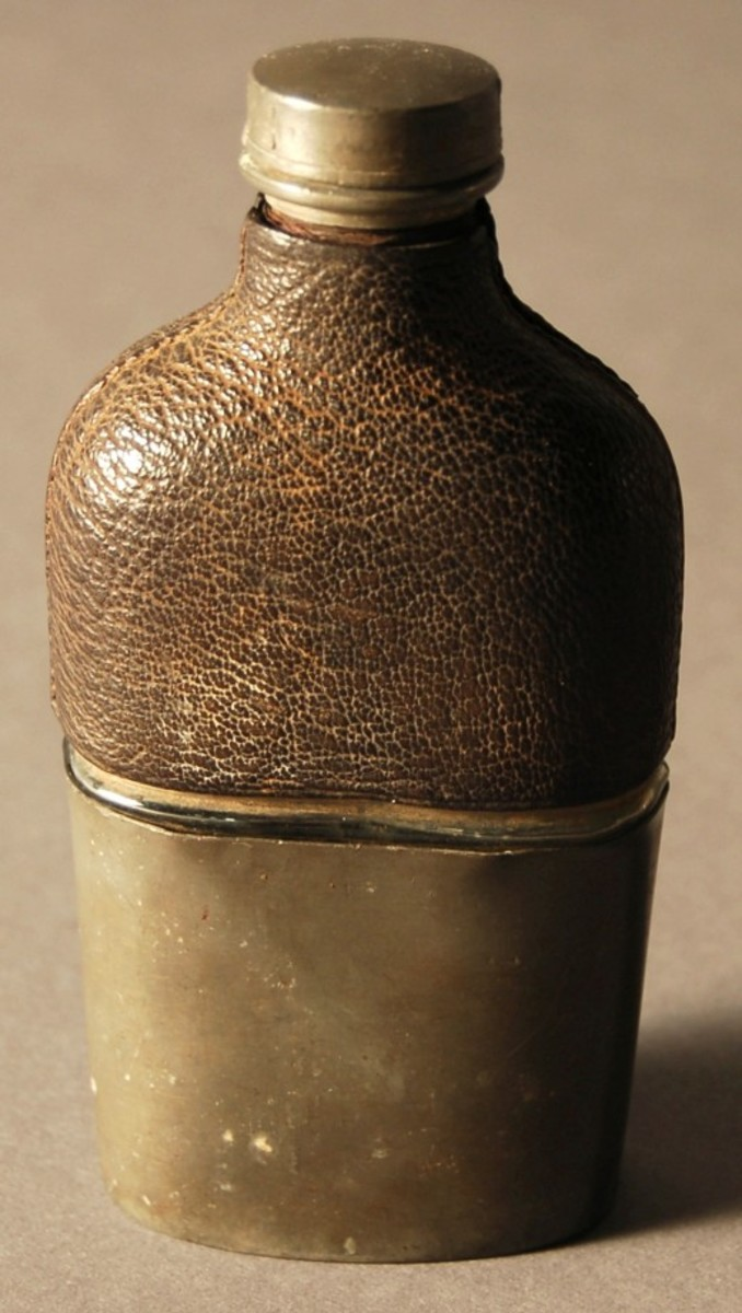 A whiskey flask