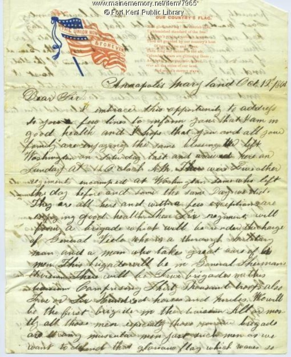 A soldier's letter on very patriotic stationery