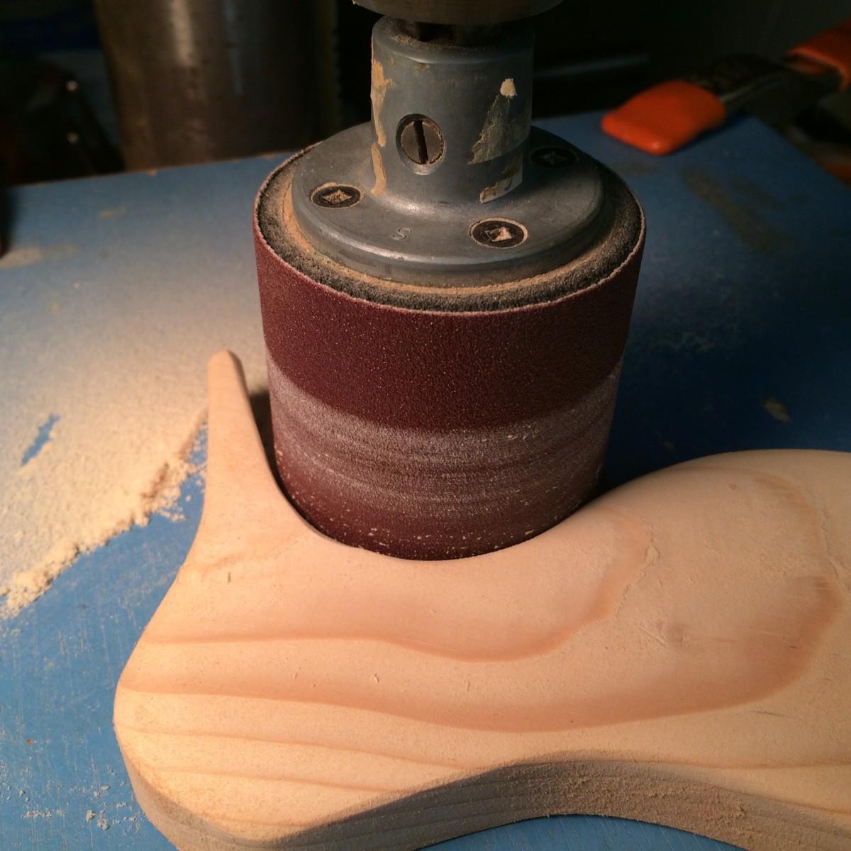 Sanding Inside Curves