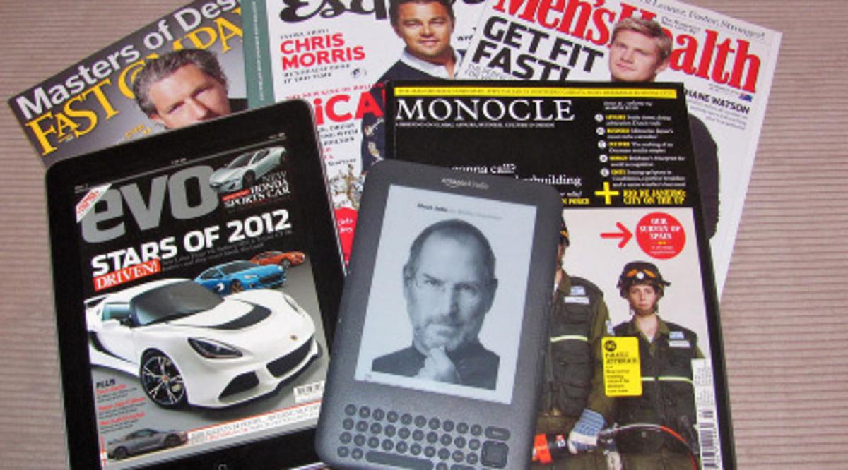 Reading magazines on e readers
