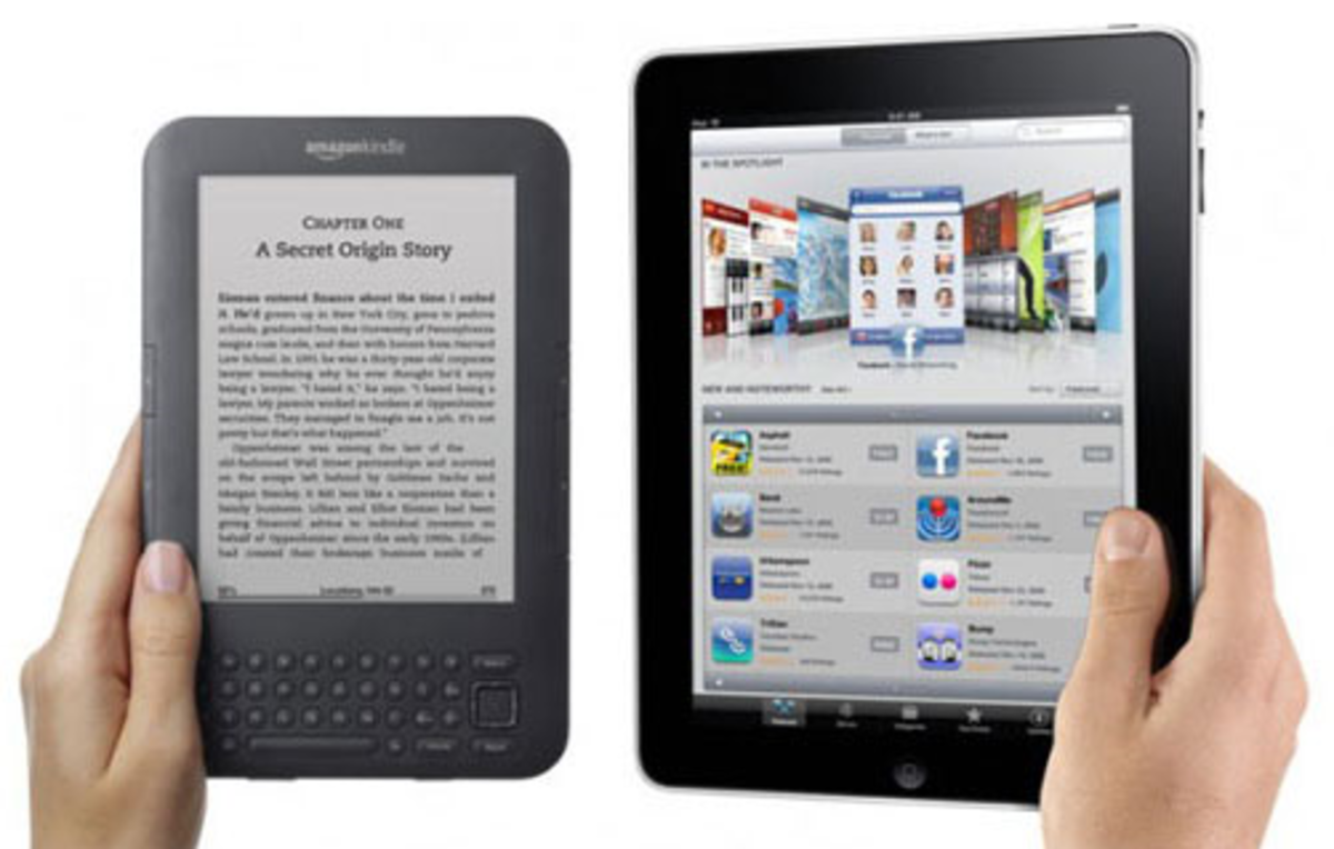 Screen sizes e reader vs tablets