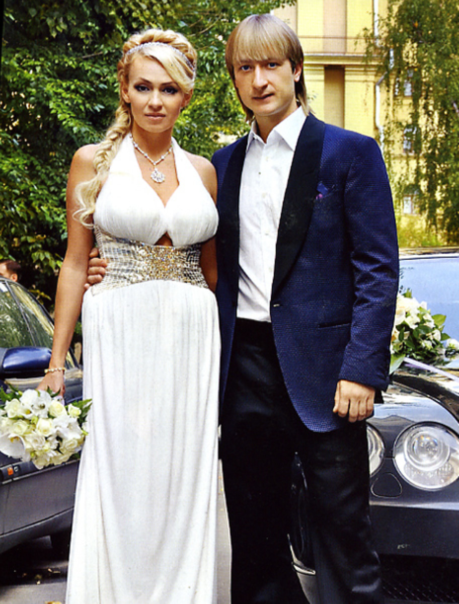 Evgeni and his second wife Yana