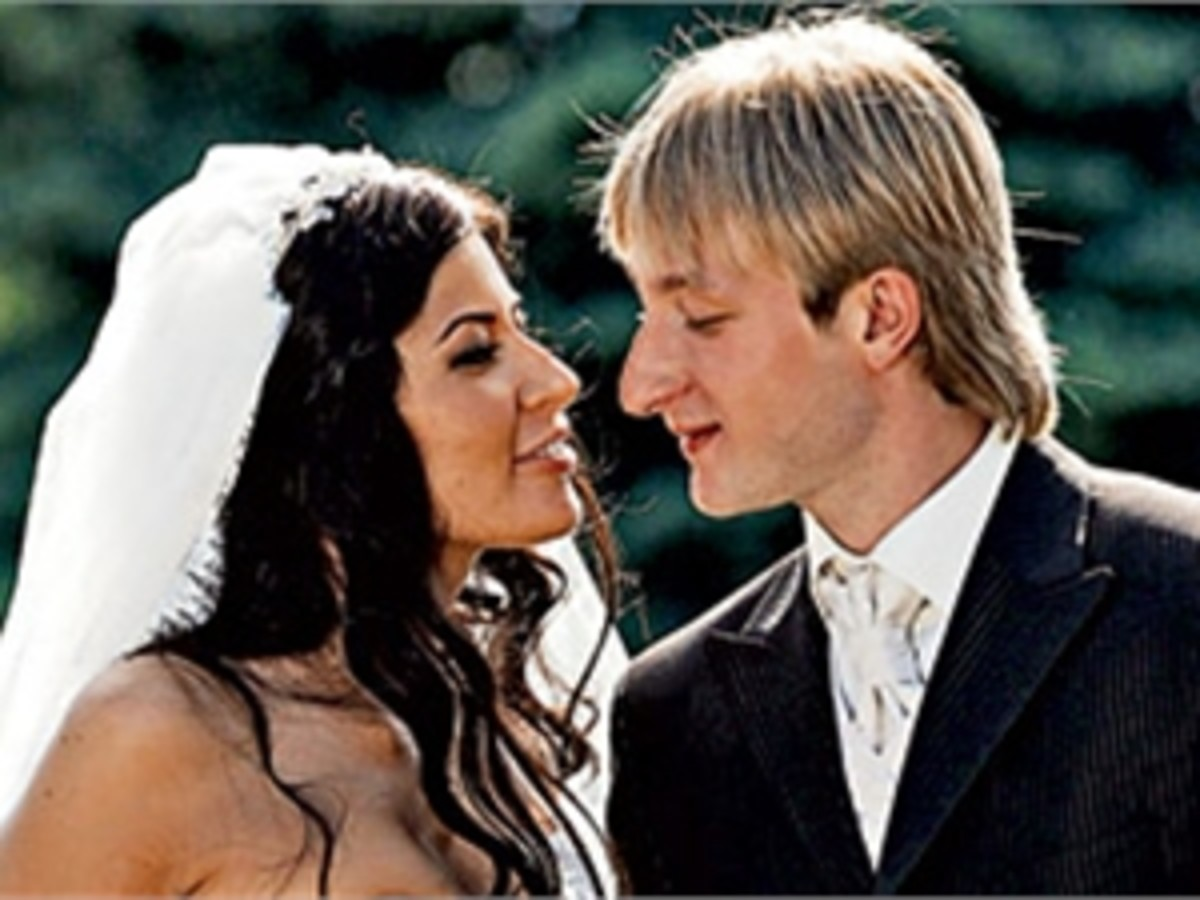 Evgeni with his first wife Maria