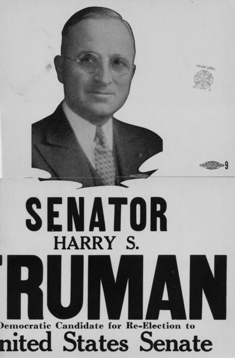 Truman Senate Re-Election poster