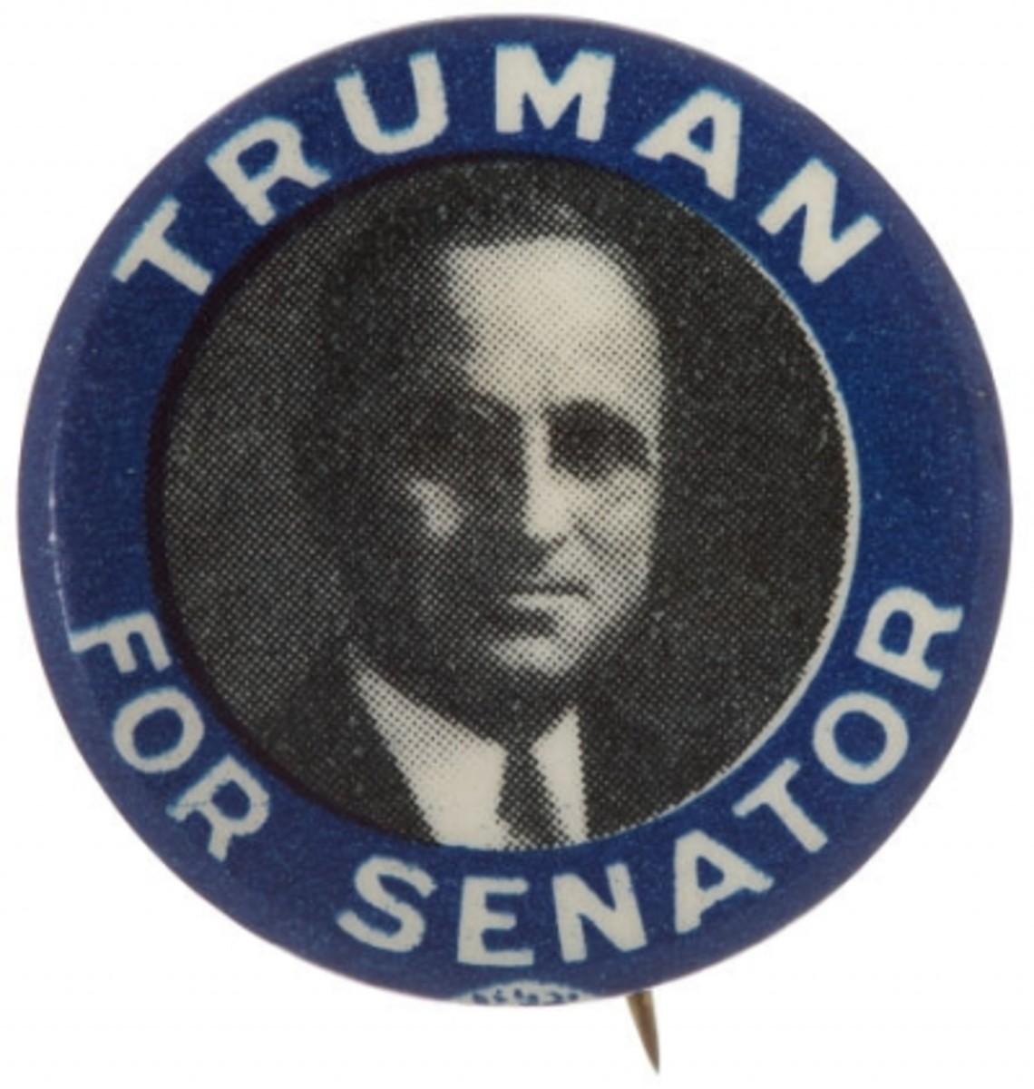 Truman for Senate campaign button